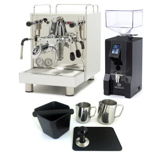 BEZZERA MAGICA e61 PID 2L Espresso Coffee Machine - EUREKA MIGNON SPECIALITA Coffee Grinder - BLACK - Package - With Accessories