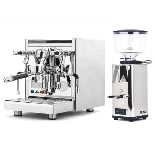 ECM TECHNIKA V e61 PID 2.1L Espresso Coffee Machine - ECM S-Automatic 64mm Doser-less Coffee Grinder - Package - With Accessories