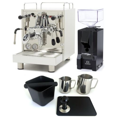 BEZZERA MAGICA e61 PID 2L Espresso Coffee Machine - EUREKA MIGNON SILENZIO Coffee Grinder - BLACK - Package - With Accessories