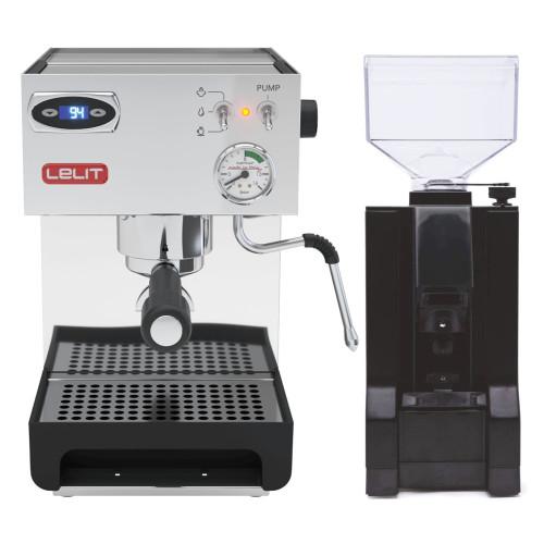 LELIT PL41TEM ANNA PID Espresso Coffee Machine - EUREKA MIGNON MANUALE Coffee Grinder - Package