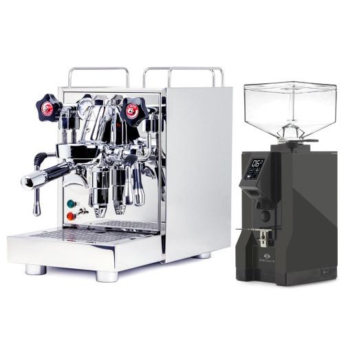 ECM MECHANIKA V SLIM e61 2.2L Espresso Coffee Machine - EUREKA MIGNON SPECIALITA Coffee Grinder - ANTHRACITE - Package
