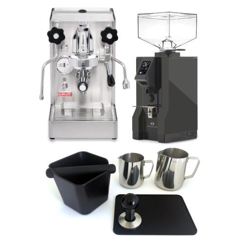 LELIT PL62X MARA X e61 1.8L Espresso Coffee Machine - EUREKA MIGNON SPECIALITA Coffee Grinder - ANTHRACITE - Package - With Accessories