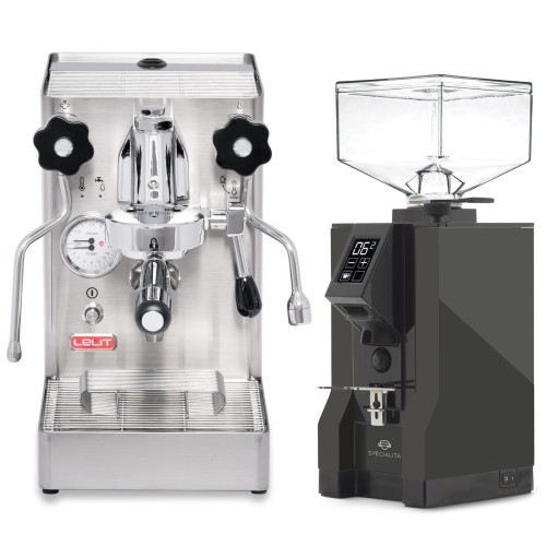 LELIT PL62X MARA X e61 1.8L Espresso Coffee Machine - EUREKA MIGNON SPECIALITA Coffee Grinder - ANTHRACITE - Package