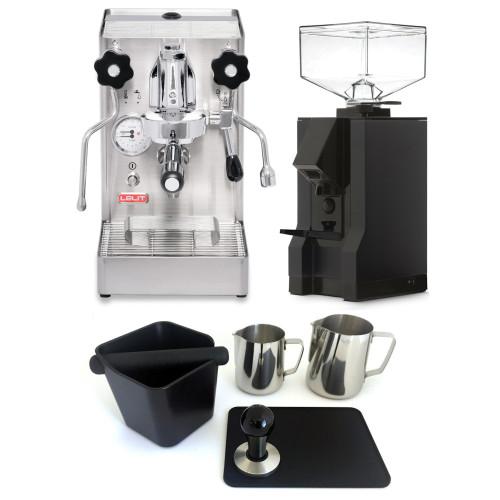 LELIT PL62X MARA X e61 1.8L Espresso Coffee Machine - EUREKA MIGNON MANUALE Coffee Grinder - Package - With Accessories