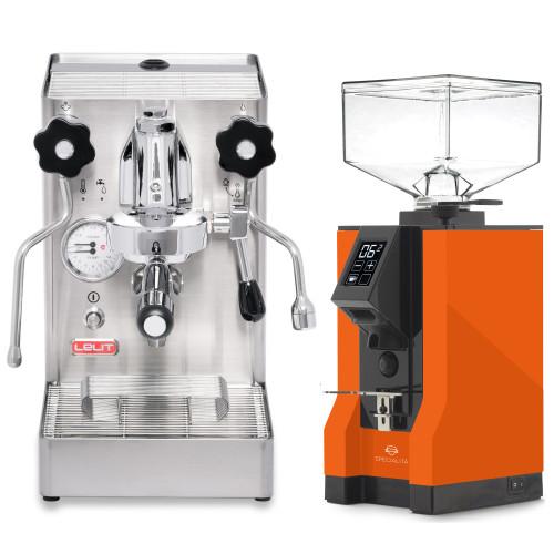 LELIT PL62X MARA X e61 1.8L Espresso Coffee Machine - EUREKA MIGNON SPECIALITA Coffee Grinder - ORANGE - Package