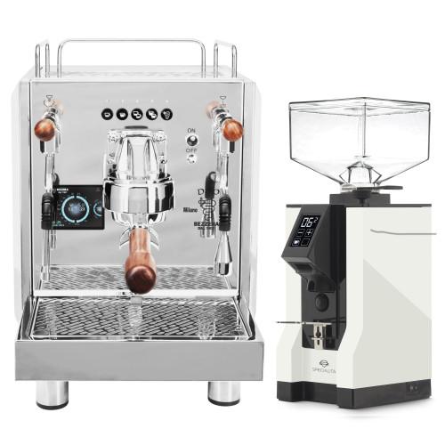BEZZERA DUO DE Double Boiler PID 0.45/1.0L Espresso Coffee Machine - EUREKA MIGNON SPECIALITA Coffee Grinder - WHITE - Package