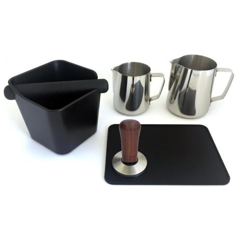 Espresso Coffee Barista Accessory Package - WOOD HANDLE