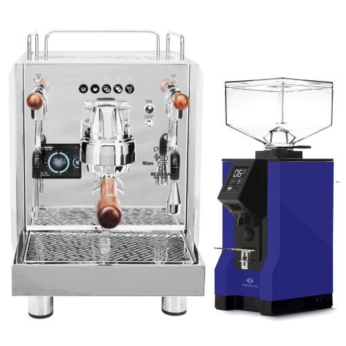 BEZZERA DUO DE Double Boiler PID 0.45/1.0L Espresso Coffee Machine - EUREKA MIGNON SPECIALITA Coffee Grinder - BLUE - Package