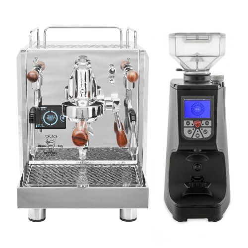 BEZZERA DUO e61 Double Boiler PID 0.45/1.0L Espresso Coffee Machine - EUREKA ATOM Coffee Grinder - BLACK - Package