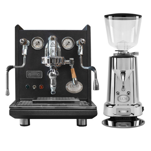 ECM SYNCHRONIKA e61 Double Boiler PID 0.75/2L Espresso Coffee Machine - V3 - ANNIVERSARY MODEL - ECM TITAN Doser-less Coffee Grinder - Package
