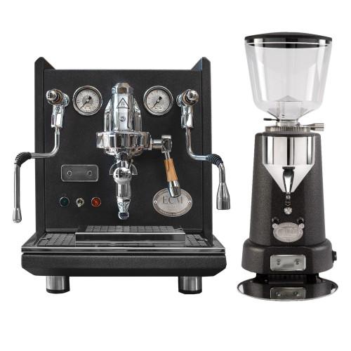 ECM SYNCHRONIKA e61 Double Boiler PID 0.75/2L Espresso Coffee Machine - V3 - ANNIVERSARY MODEL - ECM TITAN Doser-less Coffee Grinder - ANTHRACITE - Package