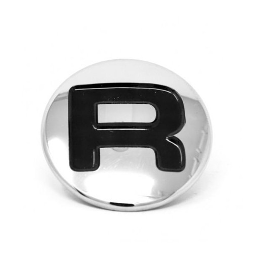 """Tap Cover / Insert """"R"""" - OD 42mm x  11mm - Chrome / Stainless Steel - ROCKET A529R04649"""