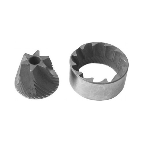 Coffee Grinder Blades / Burrs Conical - OUT 38mm x 26mm x 17mm - IN 30mm x 7mm x 20.3mm - RH DX CW (pair)
