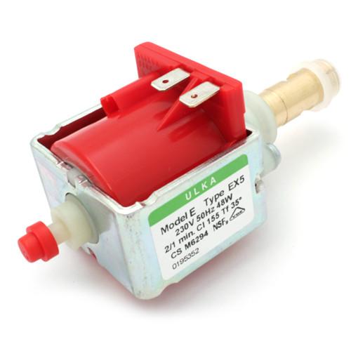 ULKA EX5 Espresso Machine Vibration Pump - BRASS OUT 1/8 BSPF - 6 mm IN - 48 W 50 Hz 230 V