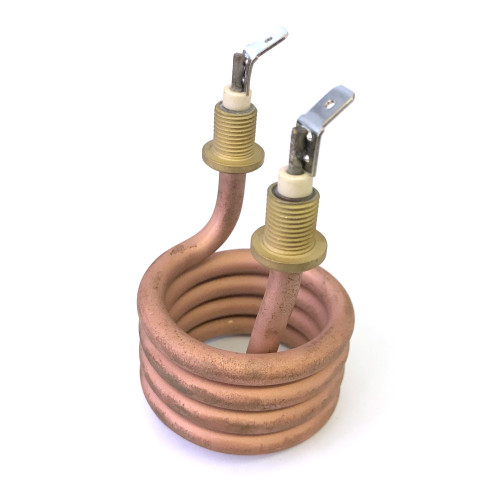 Heating Element 1000W 230V - Coil OD51mm - Immersion 62mm - 2pole - 10mm terminals