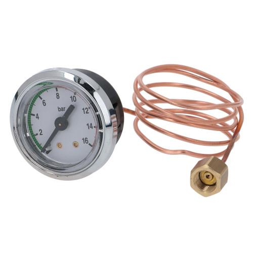 """Pump Pressure Gauge / Manometer 0-16 bar - OD 47mm Hole 40mm 1/8"""" - DOMOBAR - VIBIEMME MANMDOE40016"""