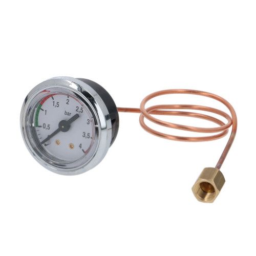 "Boiler Pressure Gauge / Manometer 0-4 BAR - OD 47mm Hole 40mm 1/8"" BSPF Connection - VBM MANMDOE40025"