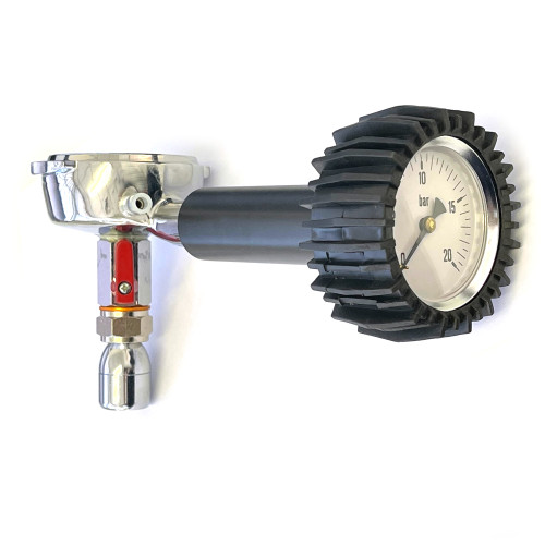 Diagnostic Filterholder with Pressure Gauge and Thermometer Connection - e61 6mm Lugs - 620900-V