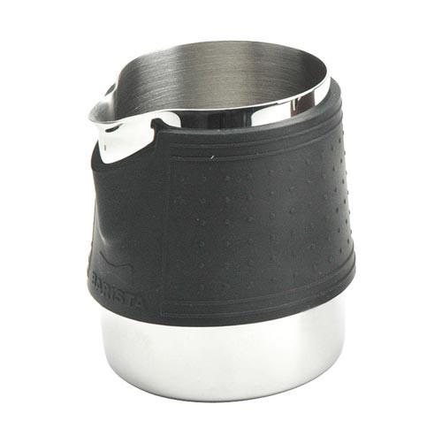 Milk Jug / Pitcher for Latte Art - Insulated Silicone Sleeve - 300 mL - TIAMO BARISTA