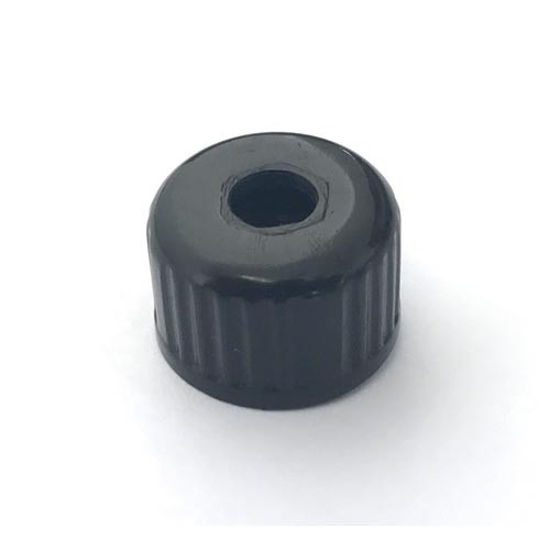 Compression Cap for Steam Arm - OD 20mm - ID 6mm - Black Plastic