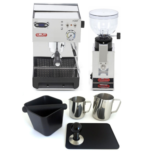 LELIT PL41TEM ANNA PID Espresso Coffee Machine - LELIT PL043 FRED Coffee Grinder - Combo - With Accessory Package