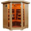 4-person WaveTec IV Carbon Corner Infrared Sauna