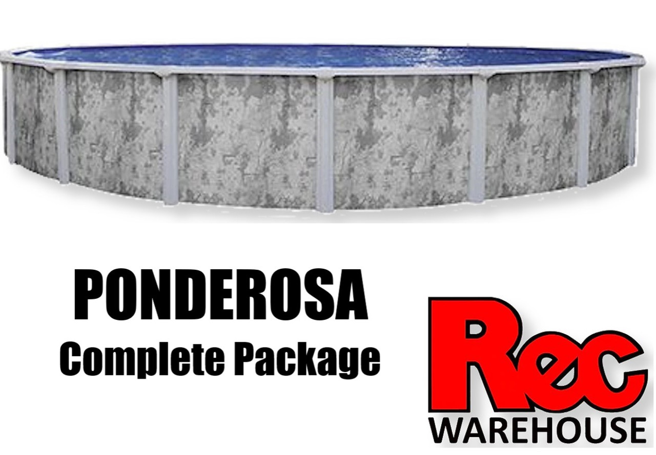 """52"""" Ponderosa GLX Complete Pool Packages, Multiple Sizes Available, $2,399.99 - $3,499.99"""