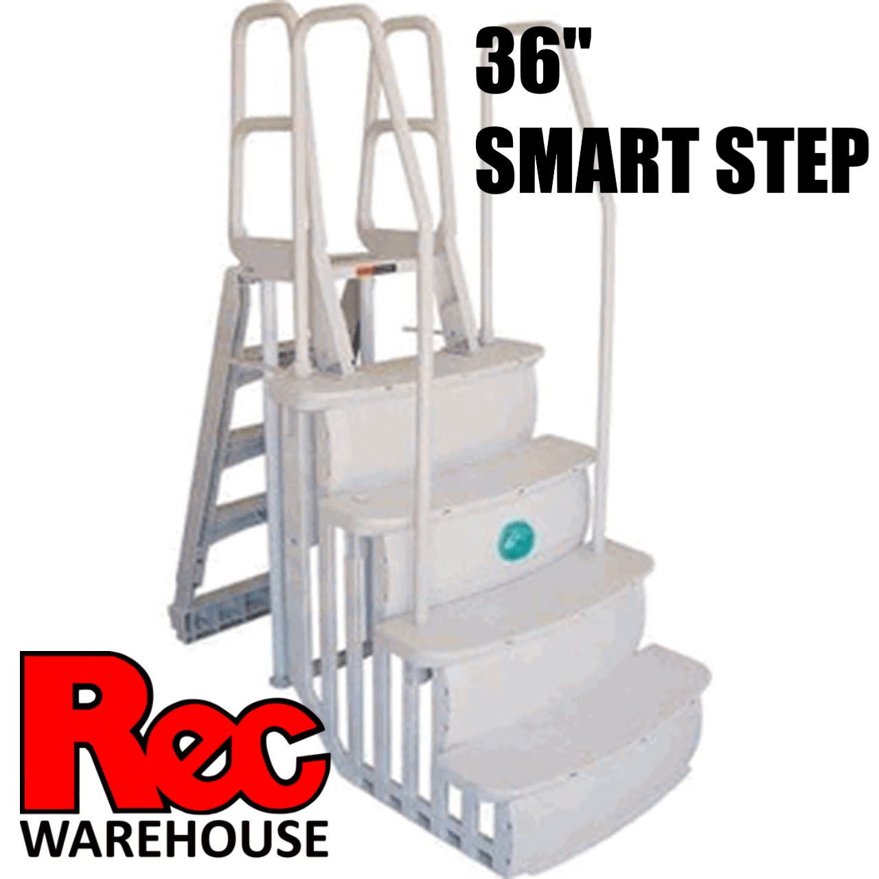 "Main access 36"" smart step with 2 handrails"