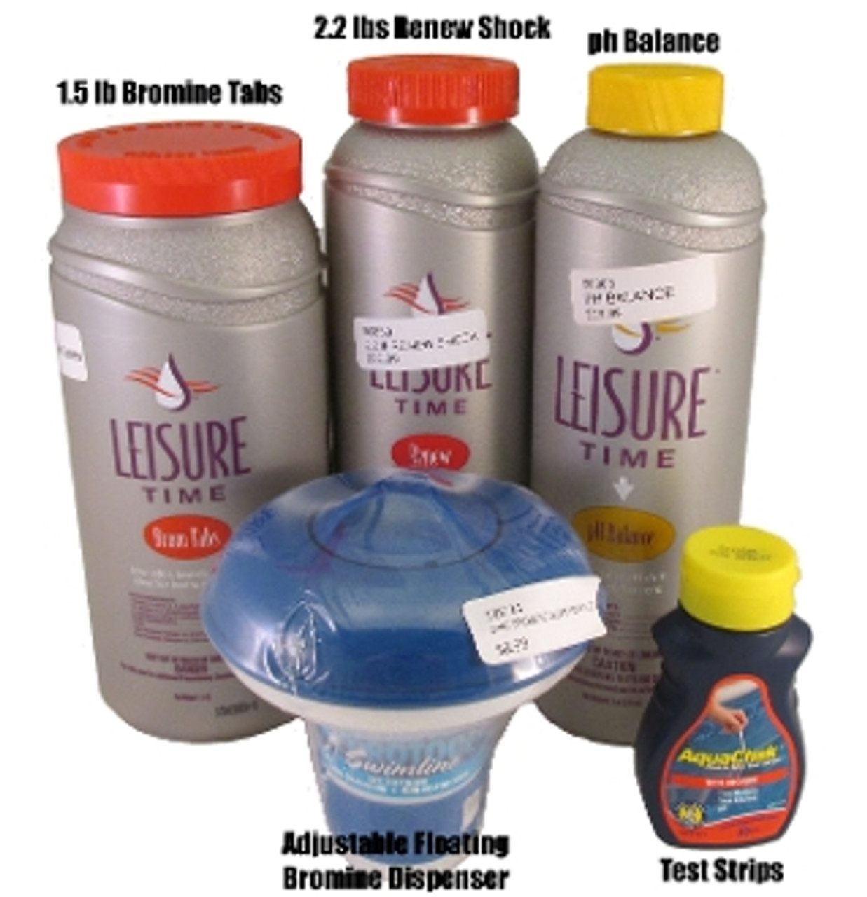 Bromine Tab Floating Hot Tub Startup Kit