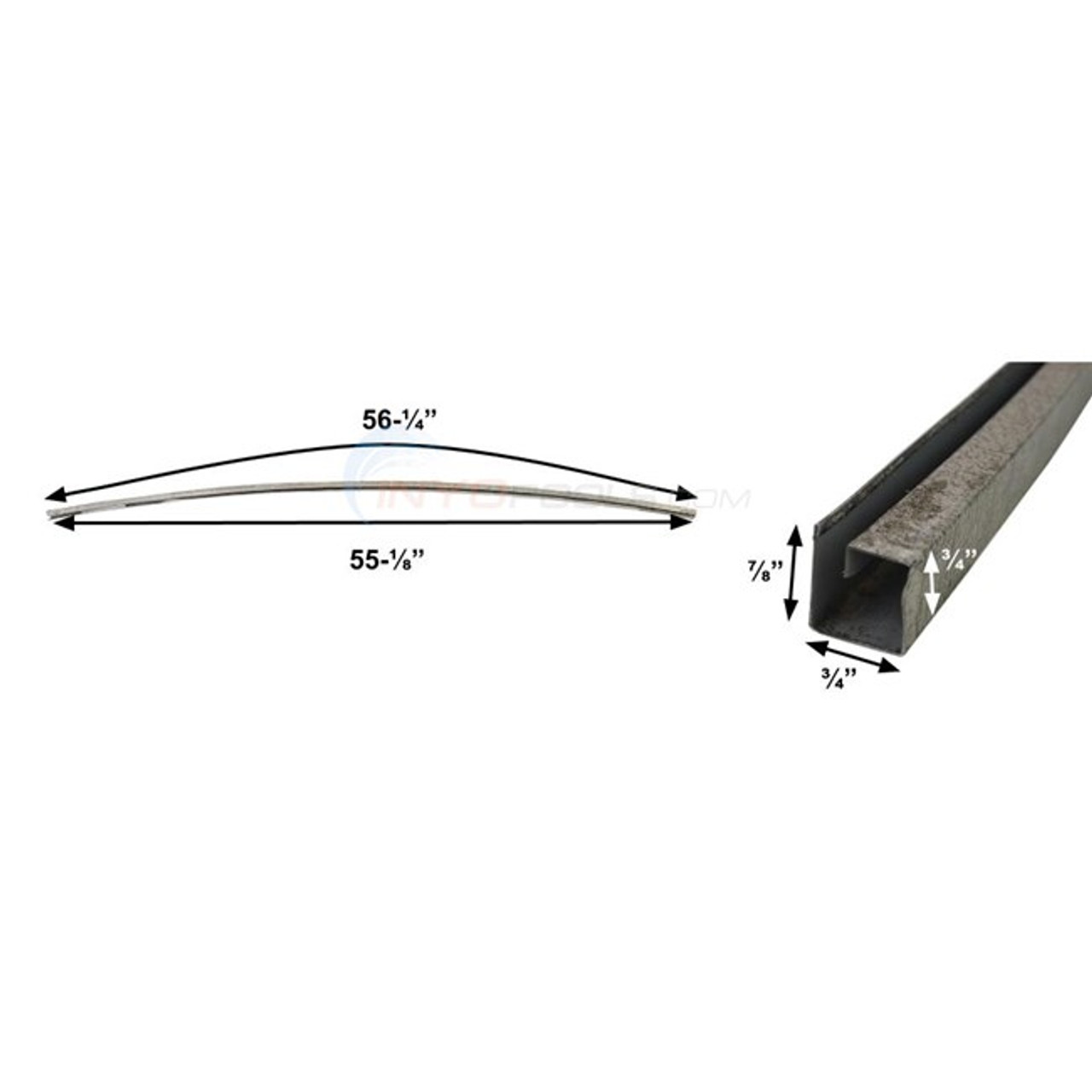 18' Radius Atlantic Bottom Rail 1460031