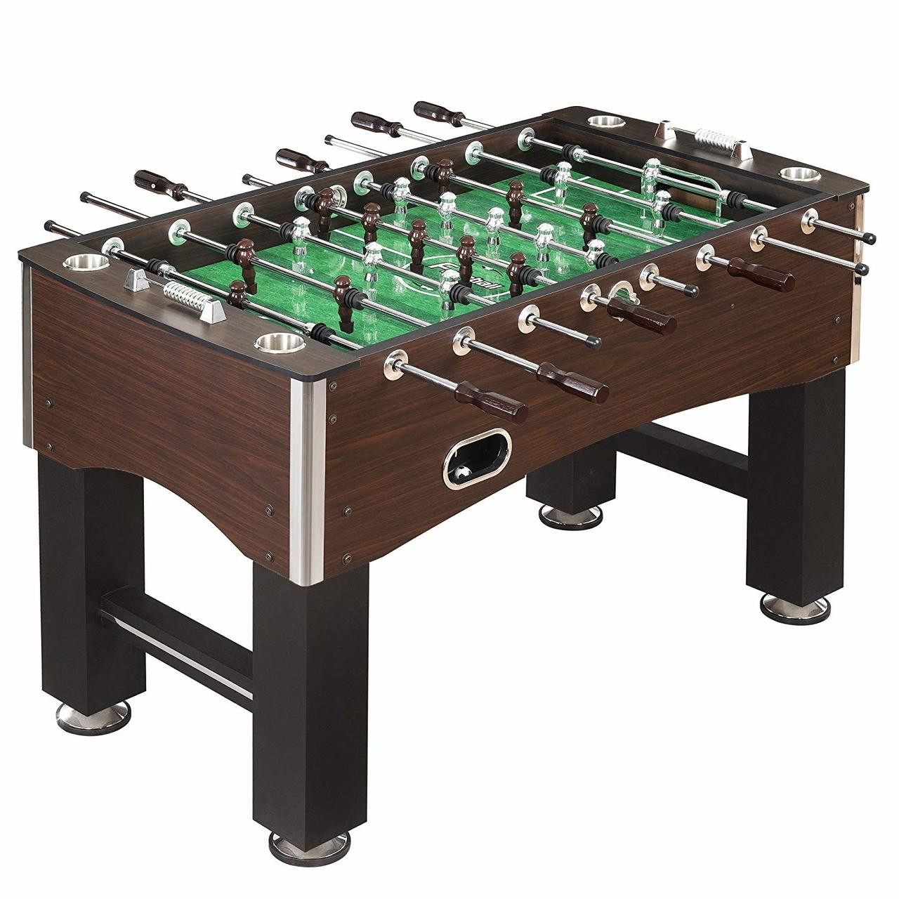 Cadillac 56-Inch Foosball Table, Family Soccer Game with Wood Grain Finish, Analog Scoring and Free Accessories (FO-1010)