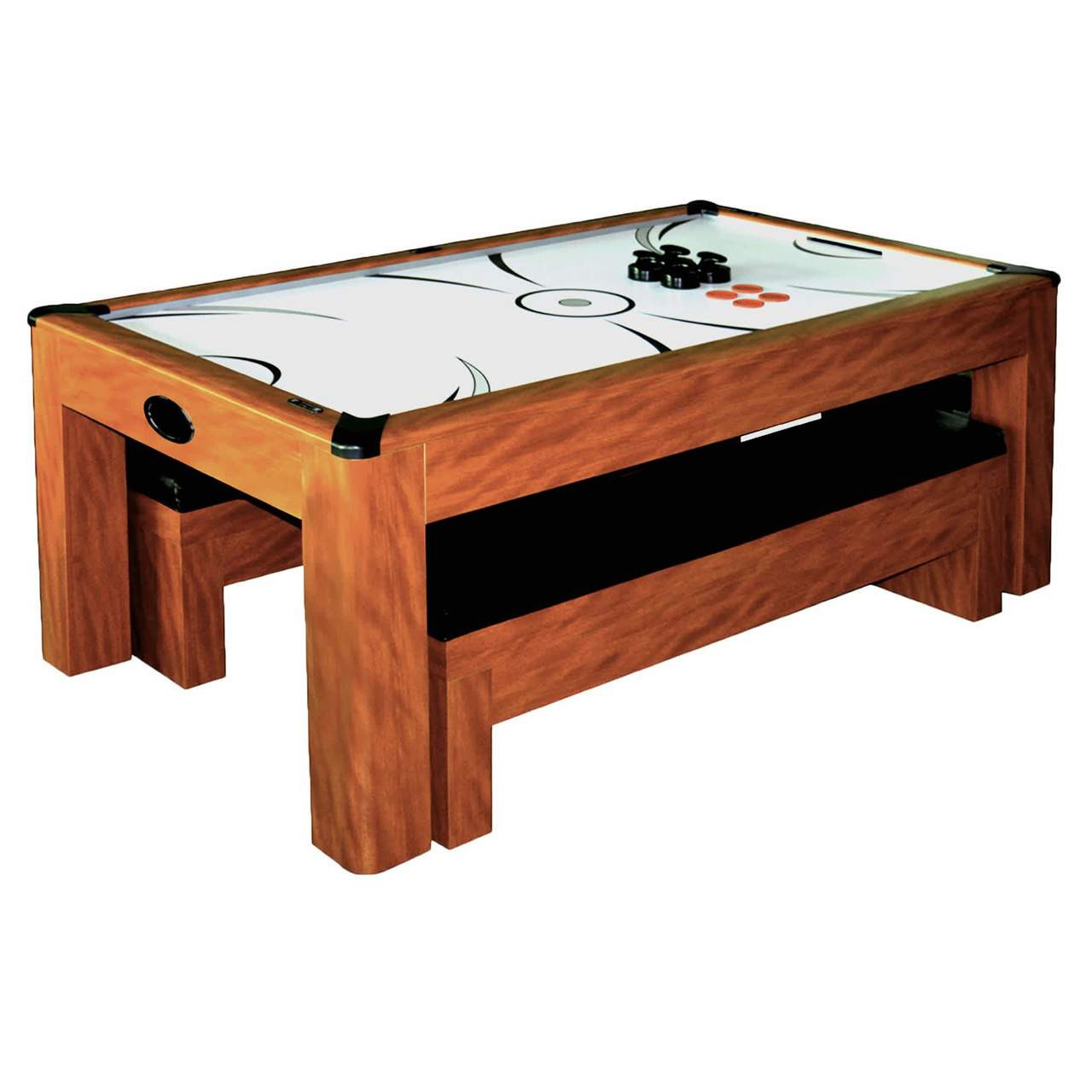 Awe Inspiring Sherwood 7 Ft Air Hockey Dining Table W Benches Ping Pong Ah 106 Free Shipping Gmtry Best Dining Table And Chair Ideas Images Gmtryco