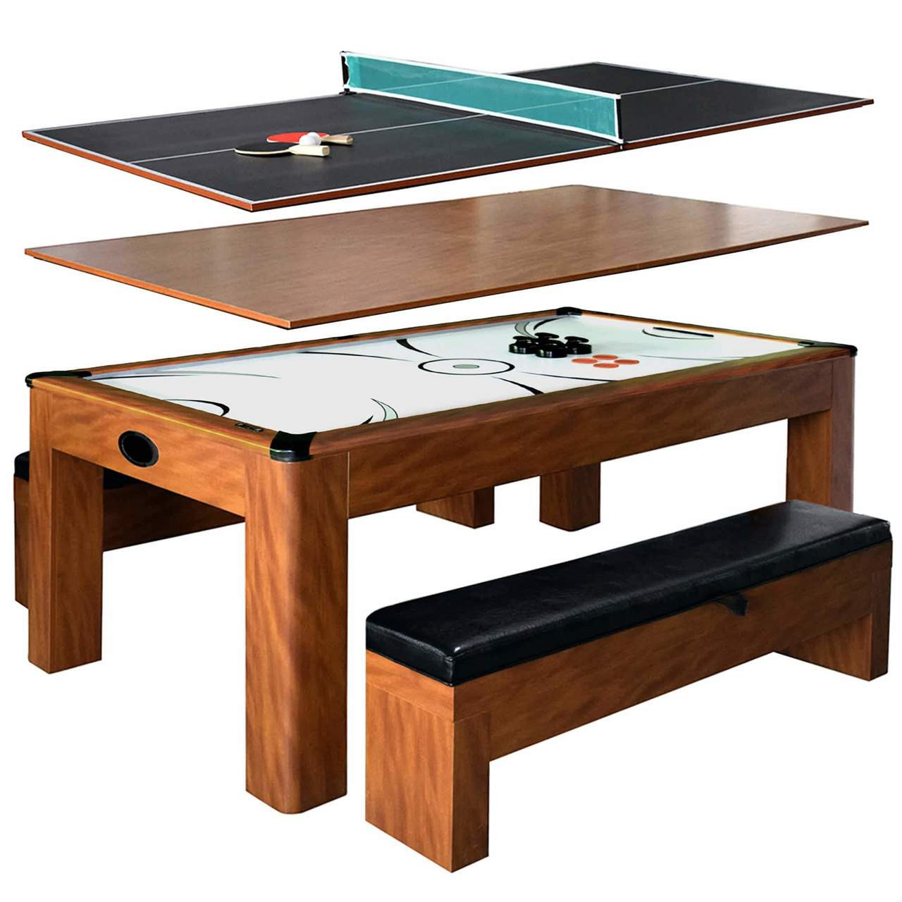 Sherwood 7-ft Air Hockey/Dining Table w Benches/Ping Pong  AH-106  FREE SHIPPING!!