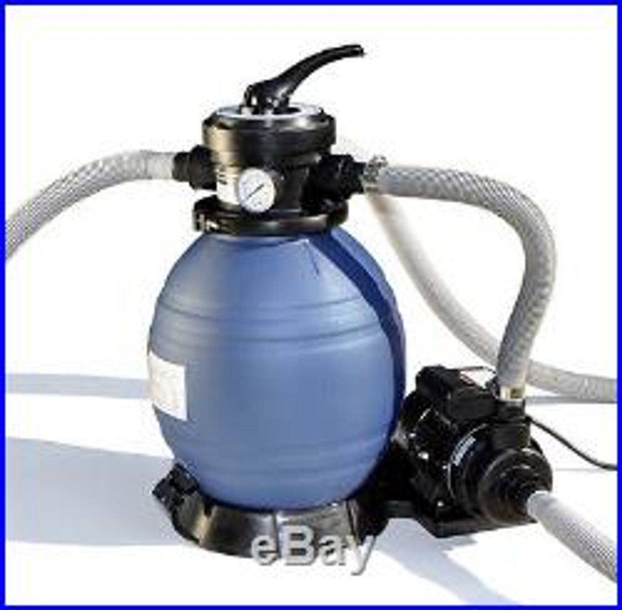 """18"""" Super Clear 3/4 HP Sand Filter  - Perfect for Pools Up to 13K Gallons"""