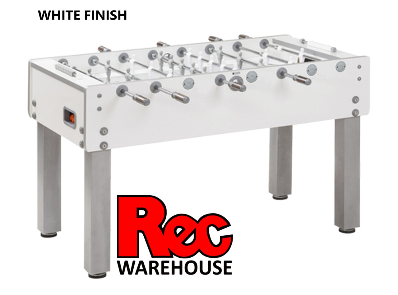 Garlando G-500  Weatherproof  Foosball Table, White Finish