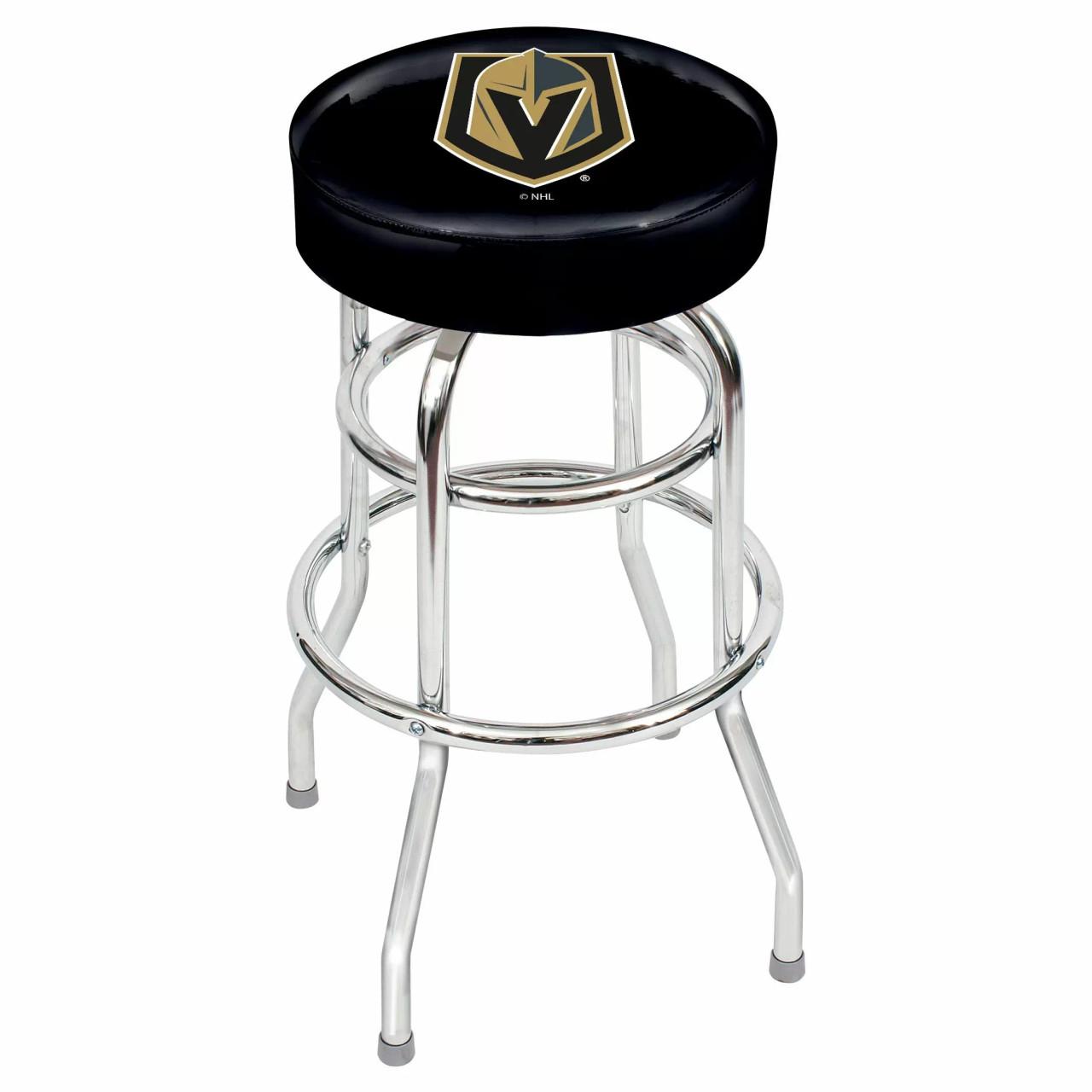 "61-5032, Las, Vegas, Golden, Knights, 30"", Chrome, Bar, Stool, NHL"