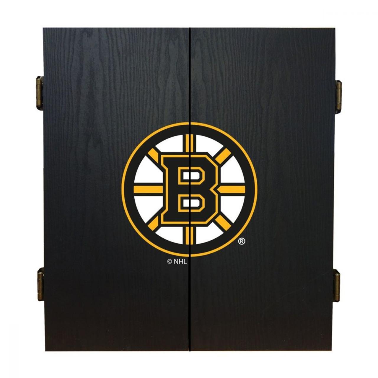 624-4001, Boston, Bruins, Fan's Choice, Dartboard, Cabinet, Darts, Flights, Set, FREE SHIPPING, NHL