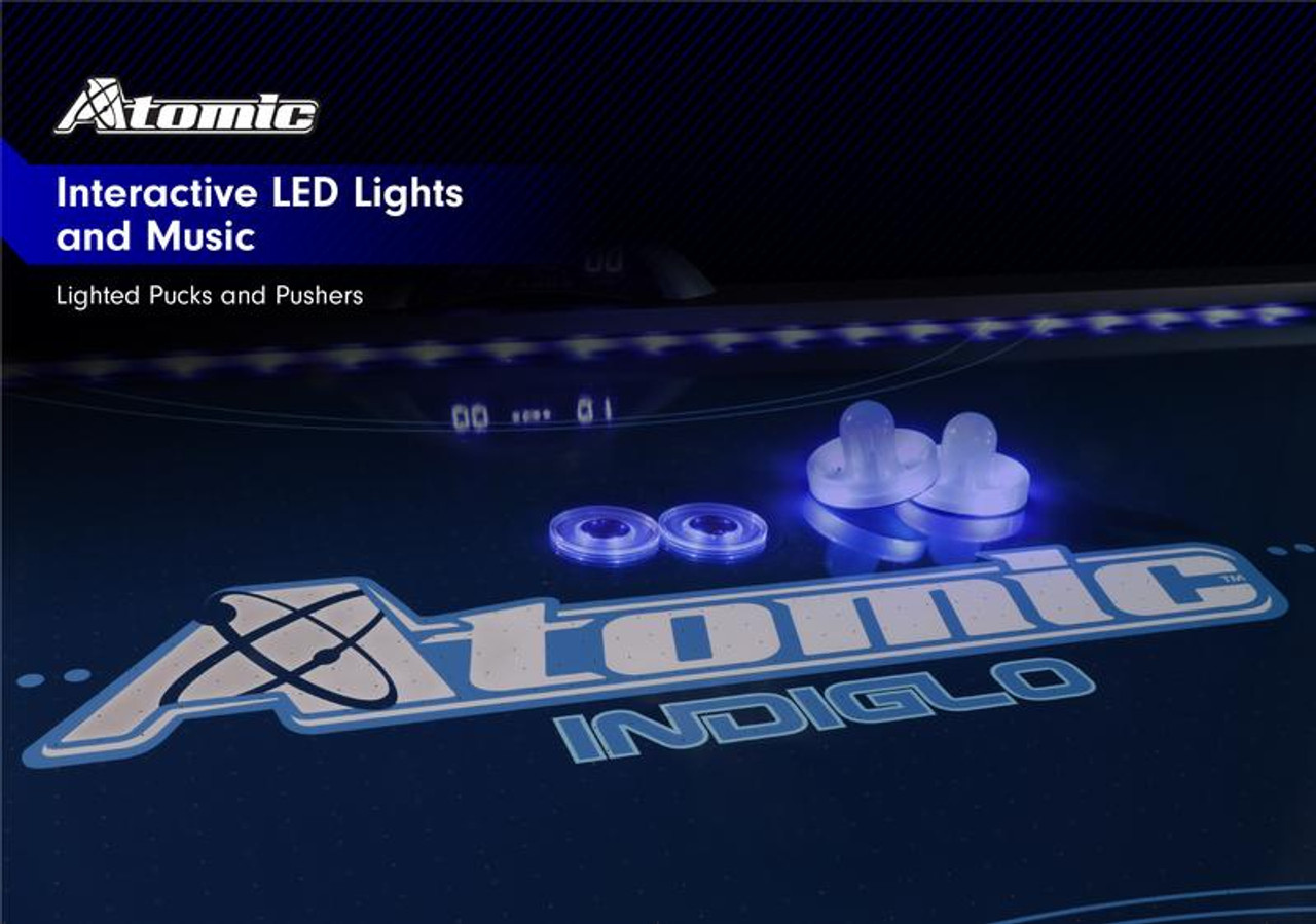 """G04801W, Escalade, Atomic, 7.5', 90"""",  Indiglo, LED,  Air, Hockey, powered, Table, FREE SHIPPING"""