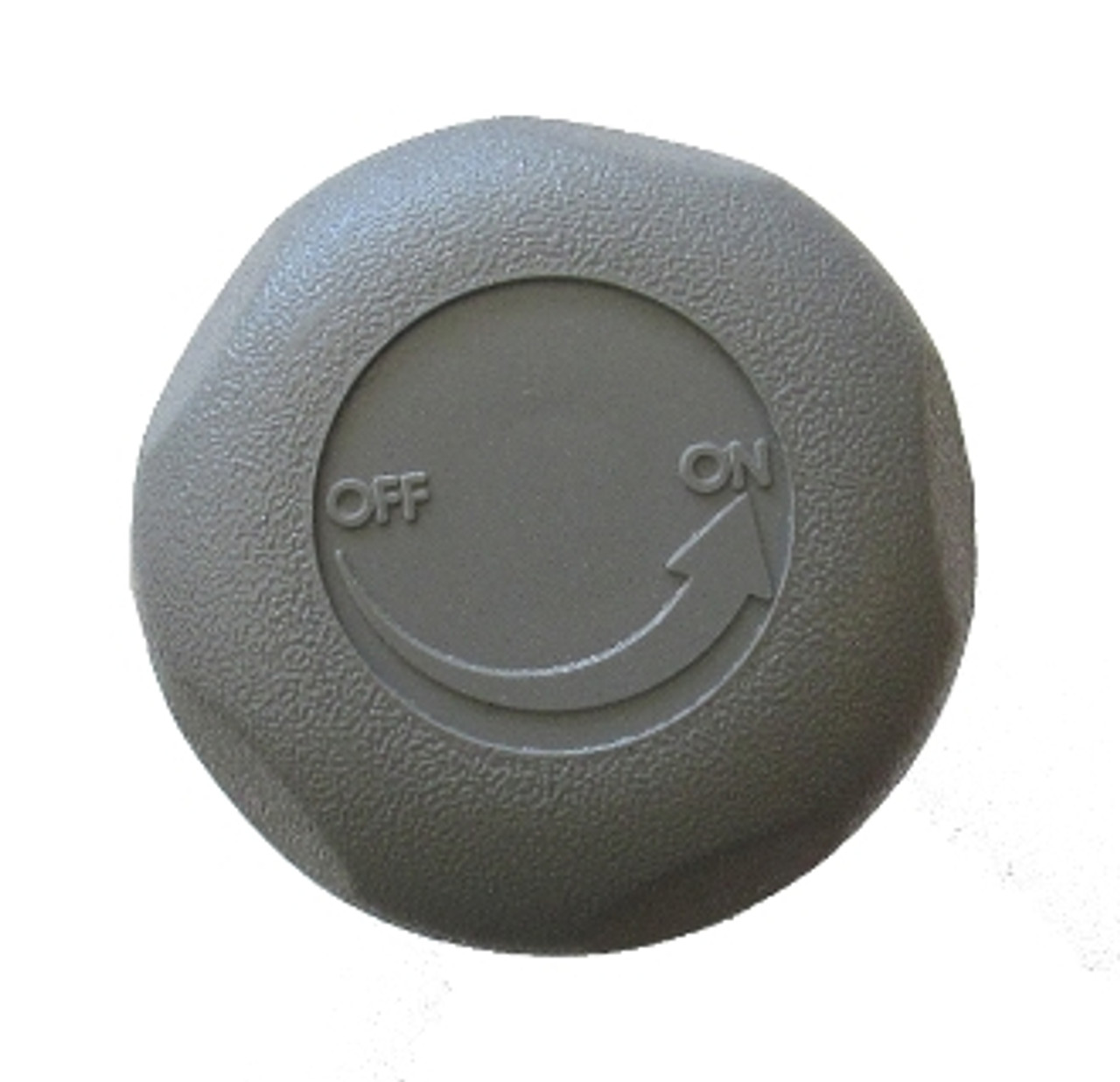 "Knob, Valve, On/Off, Waterway, 1"" Top Access, 5-Scallop, Gray, 6024357, 377337WW"