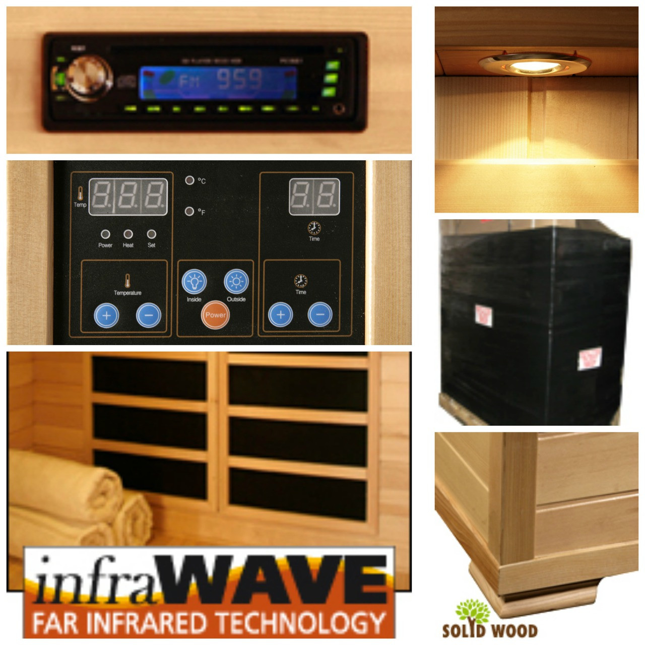 2 Person WaveTec II Carbon Infrared Sauna