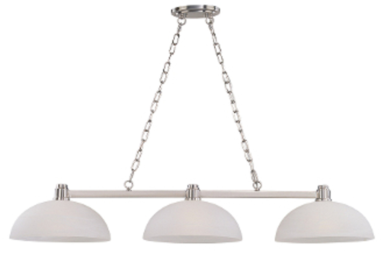 Chelsey Billiard Light Fixture - Brushed Nickel