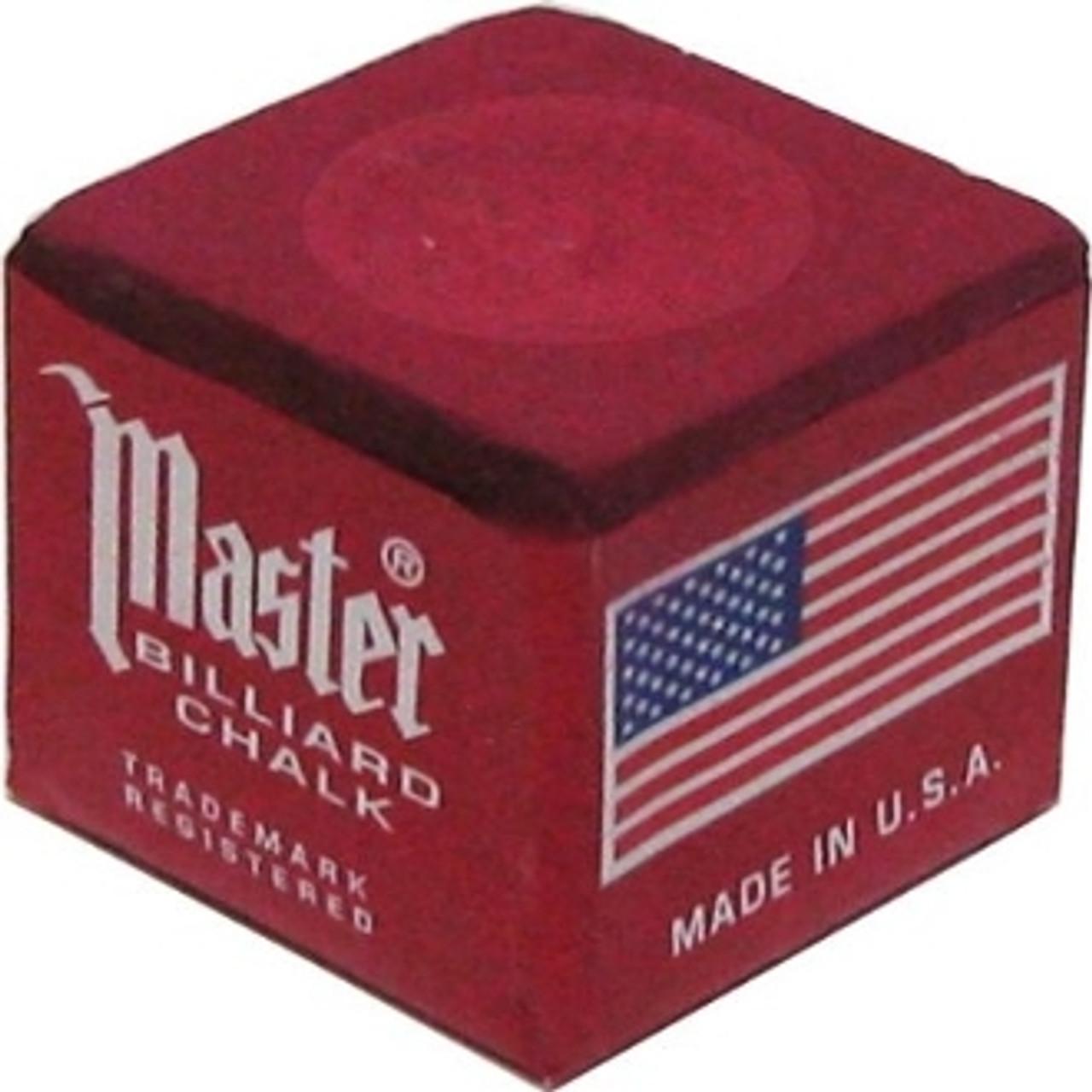 Masters Billiards Chalk Burgundy