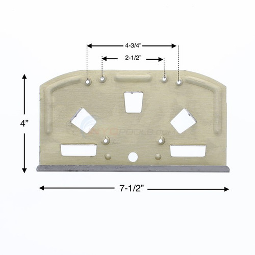 6 PACK, 12822,, Wilbar, Sequoia, Aluminum, Bottom, Plate, FREE SHIPPING, above, ground, swimming, pool