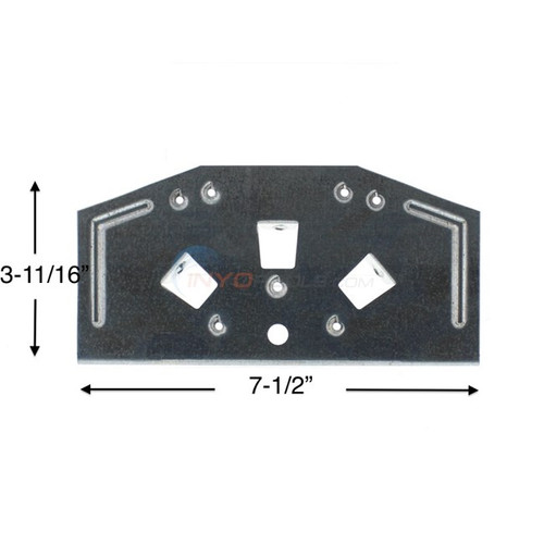 "Wilbar  Celebration/Opus/Vision/Heritage 6"" Steel Top Plate - 22761 - Buy 3 or More and Save 10%"