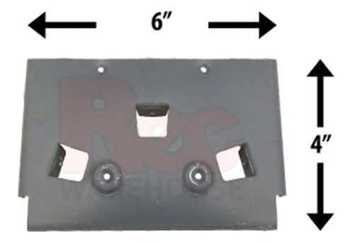 "Wilbar Eclispe 5"" Steel Top Plate - 15442 - Buy 3 or More and Save 10%"