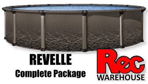 """52"""" Revelle Resin Complete Pool Packages, Multiple Sizes Available, $2899.99 - $6,299.99"""