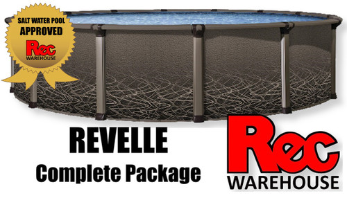 "52"" Revelle Resin Complete Pool Packages, Multiple Sizes Available, FREE SHIPPING"