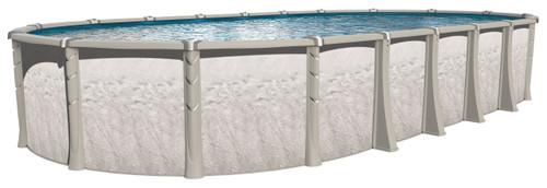 genesis, aqualeader, wilbar, above, ground, swimming, pool, round, oval, resin, yardmore, package