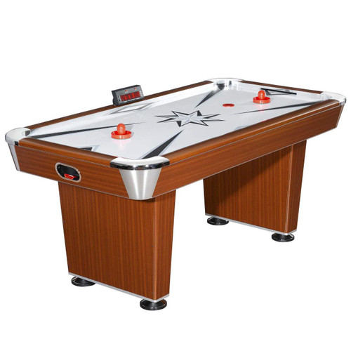 NG1037, Midtown, 6',Air Hockey, Table, Electronic Scoring, High-Powered Blower, Wood-Tone, blue wave, AH-02