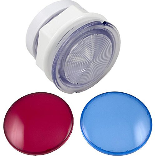 """3 1/2"""" Light Lens Kit, W/ Red & Blue Lenses, 3-1/2""""Face, 2-1/2""""Hole by Waterway 630-5005"""